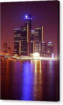 Detroit Skyline 5 Canvas Print by Gordon Dean II