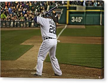 Detroit Tiger Prince Fielder Canvas Print by A And N Art