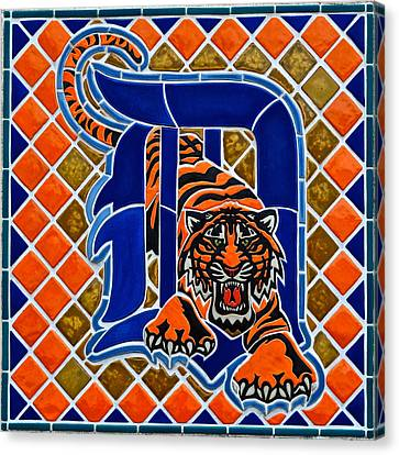 Detroit Tigers Canvas Print by Frozen in Time Fine Art Photography