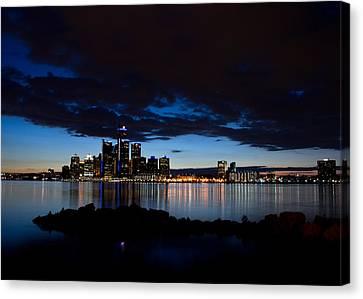 Detroit Twilight Canvas Print