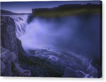 Dettifoss Waterfall Canvas Print by Giovanni Allievi