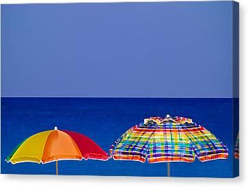 Deuce Umbrellas Canvas Print by Gary Dean Mercer Clark