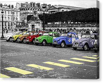 Deux Chevaux In Color Canvas Print
