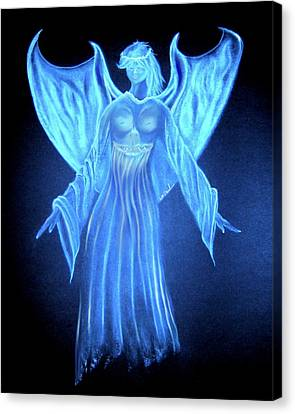 Devil An Angel Canvas Print by William  Paul Marlette
