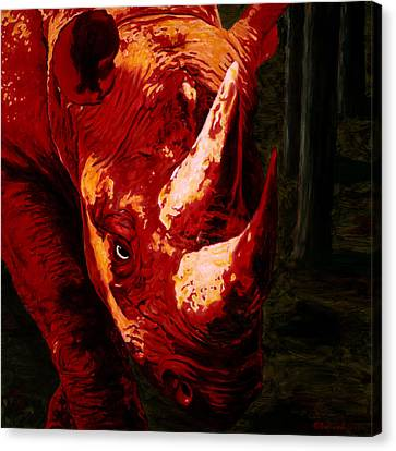 Devil By My Side Canvas Print