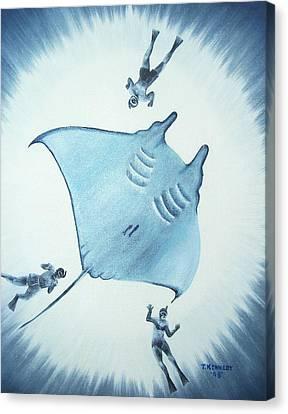 Devil Fish Canvas Print