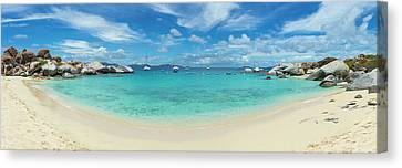 Devils Bay And Beach At The Baths Canvas Print by Panoramic Images
