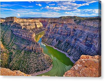 Bighorn Canyon National Recreation Area Canvas Print - Devil's Canyon Overlook by Greg Norrell