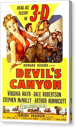 Devils Canyon, Us Poster, From Left Canvas Print by Everett