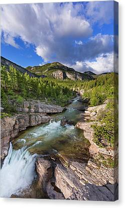 Devils Glen On The Dearborn River Canvas Print by Chuck Haney