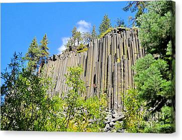 Canvas Print featuring the photograph Devils Postpile by Marilyn Diaz