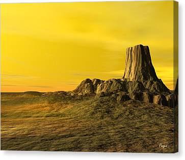 Devils Tower Canvas Print by John Pangia
