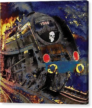 Devil's Train Canvas Print by Pennie  McCracken