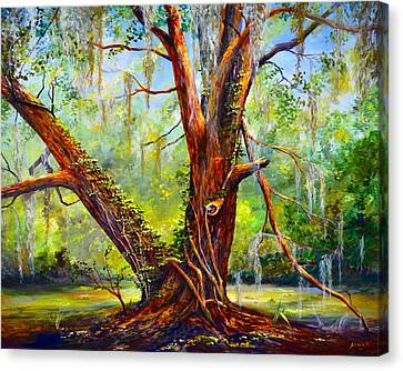 Devine Oak Canvas Print by AnnaJo Vahle