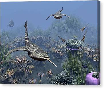 Devonian Sea, Artwork Canvas Print by Science Photo Library