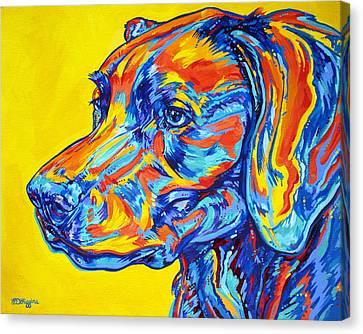 Working Dog Canvas Print - Devoted Friend by Derrick Higgins