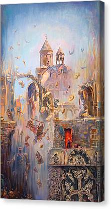 Devoted To The Saint Memory Of The Victims Of Armenian Genocide Canvas Print by Meruzhan Khachatryan