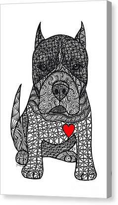 Devotion- American Pitbull Terrier Canvas Print