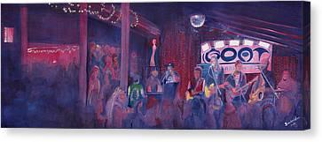 Dewey Paul Band At The Goat Nye Canvas Print by David Sockrider