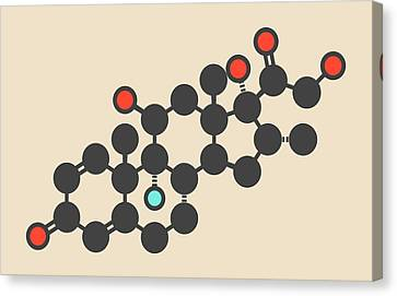 Dexamethasone Glucocorticoid Molecule Canvas Print