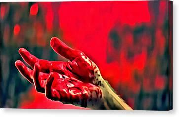 Dexter Morgan Canvas Print - Dexter Bloody Hand by Florian Rodarte