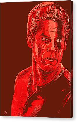 Icon Canvas Print - Dexter by Giuseppe Cristiano