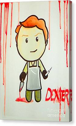 Canvas Print featuring the painting Dexter by Marisela Mungia