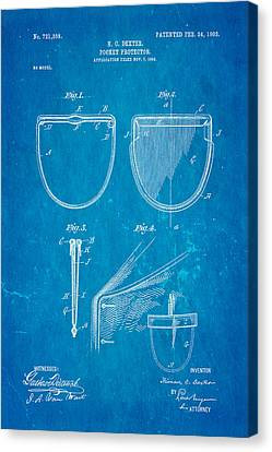 Dexter Pocket Protector Patent Art 1903 Blueprint Canvas Print