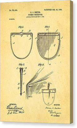 Dexter Pocket Protector Patent Art 1903 Canvas Print