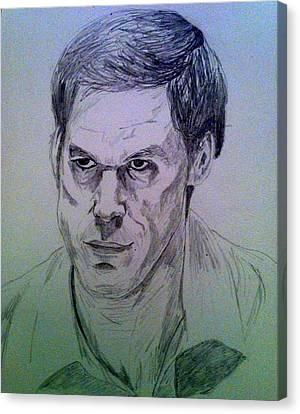 Dexter Morgan Canvas Print - Dexter by Stefan Connolly