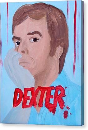 Dexter Morgan Canvas Print - Dexter With Hand by Marisela Mungia