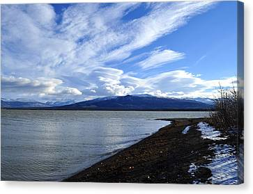Dezadeash Lake Canvas Print by Cathy Mahnke