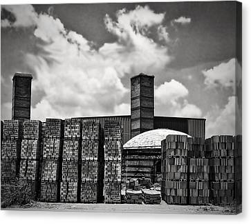 D'hanis Brick Factory Canvas Print by Wendy J St Christopher