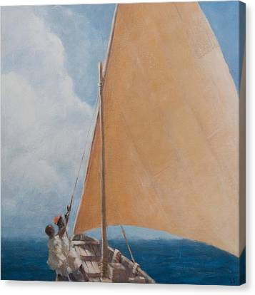 Dhow Kilifi Canvas Print by Lincoln Seligman