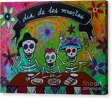 Dia De Los Muertos Familia Canvas Print by Pristine Cartera Turkus
