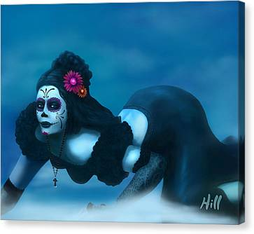 Kevin Hill Canvas Print - Dia De Los Muertos - Josephine by Kevin Hill