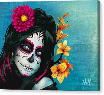 Kevin Hill Canvas Print - Dia De Los Muertos - Margarita - 10th Anniversary Edition by Kevin Hill