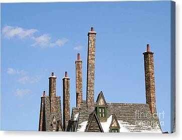 Diagon Alley Chimney Stacks Canvas Print by Shelley Overton