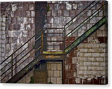 Diagonal Stairs Canvas Print by Murray Bloom