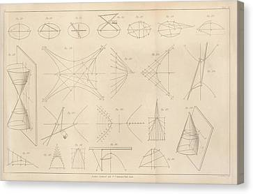 Diagrams Of Conic Sections Canvas Print by King's College London