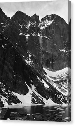 Diamond Avalanche Bw Canvas Print by Adam Paashaus