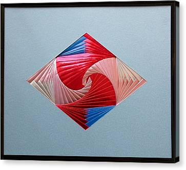 Canvas Print featuring the mixed media Diamond Design by Ron Davidson