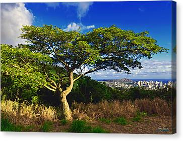Canvas Print featuring the photograph Diamond Head From Tantalus Drive by Aloha Art