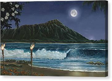 Diamond Head Canvas Print - Diamond Head Hawaii by Bob Lizza