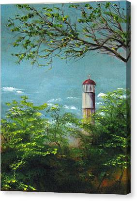 Diamond Head Lighthouse Canvas Print by Sherry Robinson