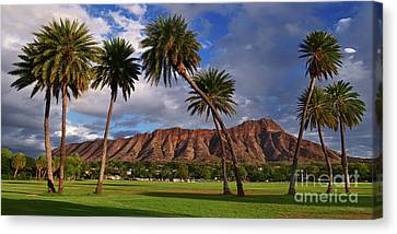 Diamond Head State Monument Before Sunset Canvas Print by Aloha Art