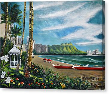 Diamond Head Waikiki Canvas Print