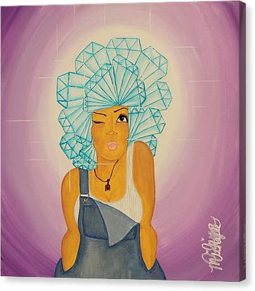 Music Inspired Art Canvas Print - Diamond In The Rough by Aliya Michelle