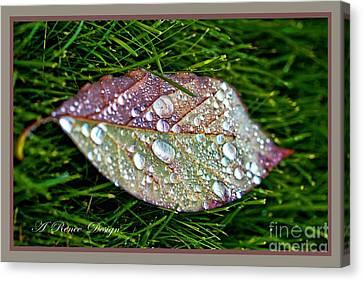 Diamond Leaf Shimmer Canvas Print