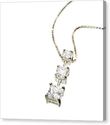 Diamond Necklace Canvas Print by Science Photo Library